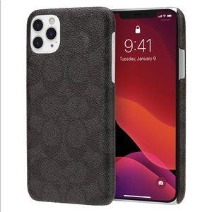 Coach signature C iPhone 11 Pro case black/ gray